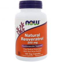 NOW FOODS NATURAL RESVERATROL 200mg 120 kap