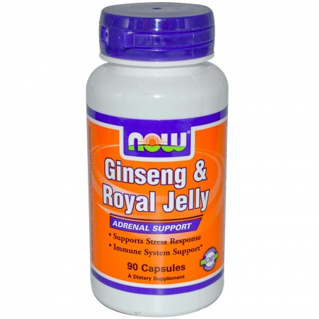 Now Foods Ginseng & Royal Jelly - 90 Caps