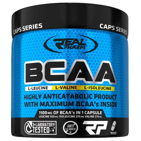 Real Pharm BCAA 1100mg 150 caps.