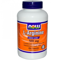 Now Foods L-Arginine 500 mg - 100 Caps.