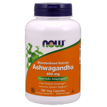 Now Foods Ashwagandha 450mg 180 Vcaps.