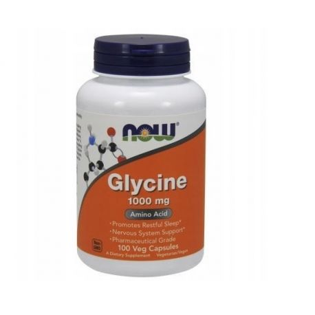 Now Foods Glycine 1000mg 100 Vcaps.
