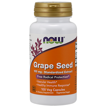 Now Foods Grape Seed Anti 1000mg 100 Vcaps.