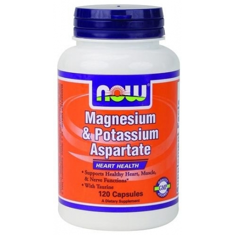Now Foods Magnesium & Potassium Aspartate with Taurine - 120 kaps.
