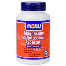 Now Foods Magnesium & Potassium Aspartate with Taurine - 120 kaps.