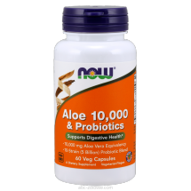 Now Foods Aloe Vera 10 000 & Probiotics 60 Vcaps.