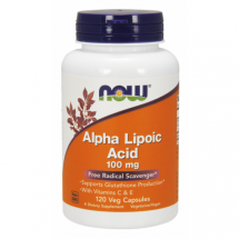 Now Foods Alpha Lipoic Acid 100mg 120Vcaps.