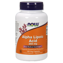 Now Foods Alpha Lipolic Acid 250mg 120Vcaps.