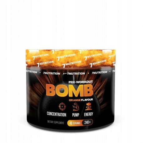 7 Nutrition Bomb Pre Workout 240g Orange