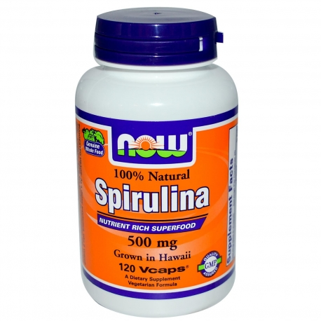 Now Foods Spirulina 500 mg 100% Natural - 200 Tabs