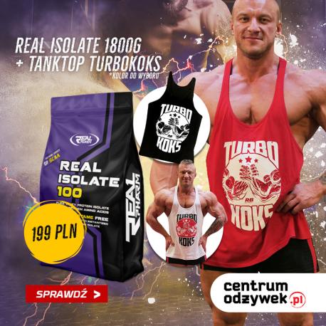 """Zestaw Real Pharm Isolate 1800g bag + Tank top """"TURBOKOKS"""""""