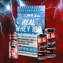 Real Pharm Whey 100 700g + 2 x BCAA Drink 330ml + Pre Pump shot + Amino Rest shot