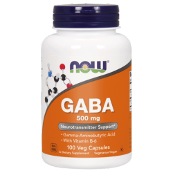 Now Foods Gaba 500mg 100 vcaps