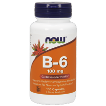 Now Foods Vitamin B-6 100mg 100kaps.