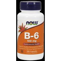 Now Foods Vitamin B-6 100mg 100kaps.