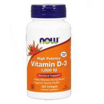 Now Foods Vitamin D-3 1000 IU 360 kaps