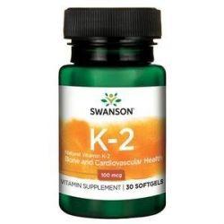 Swanson Vit K2 100mcg 30 kaps