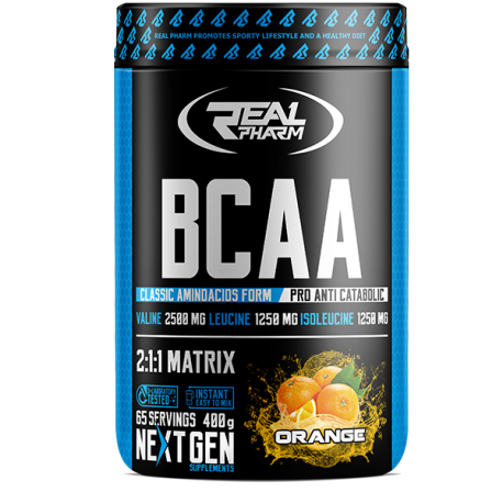 Real Pharm BCAA instant - 400g natural (data do 29.12.2019r.)