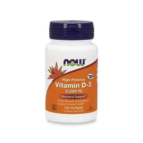 Now Foods Vitamin D-3 2000 IU 240 softgels