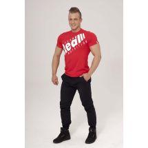 """Real Wear T-shirt """"Sztanga"""" Czerwony rozmiar S (brak metki)"""