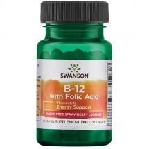 Swanson Vitamin B-12 w/Folic Acid - 60 lozenges
