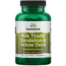 Swanson Milk Thistle&Dandelion&Yellow Dock 120caps