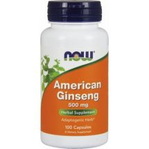 Now Foods American ginseg  500mg 100vCaps (data do 31.10.2020r.)