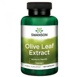 Swanson olive leaf extract 500mg 60kaps. (data do 30.04.2021)