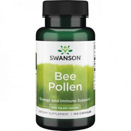 SWANSON Bee Pollen 400mg - 100 kaps.