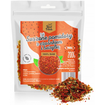 Real Foods - Suszone pomidory z czosnkiem i bazylią 200g