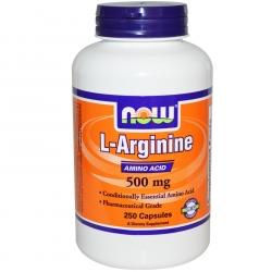 Now Foods L-Arginine 500mg 250 kap.
