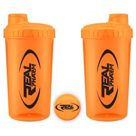 Real Pharm Shaker - 700 ml - NEONOWY - POMARAŃCZOWY