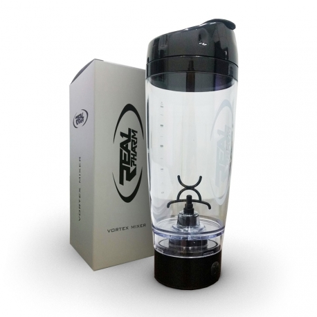 PROMiXX The Original Vortex Mixer Protein Shaker REAL PHARM logo