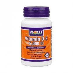 NOW Foods Vitamin D3 5000IU 120 softgels