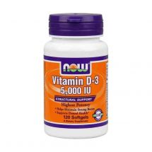 NOW Foods Vitamin D3 5000IU 120 caps.