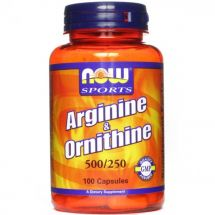 NOW Foods Arginine&Ornithine 100 kaps.