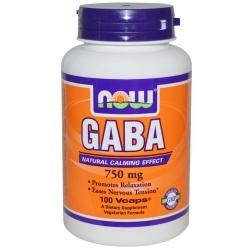 NOW Foods GABA 750mg 100caps.
