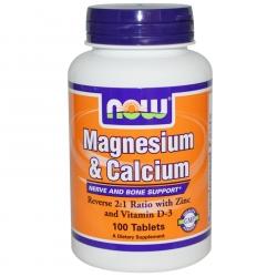 NOW Foods Magnesium & Calcium 100tab.