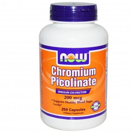 NOW Foods Chromium Picolinate 200 mcg 100kap.