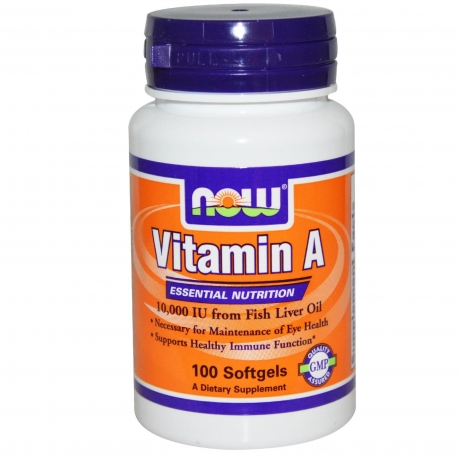 NOW Foods Vitamin A 10000 IU 100 kaps.