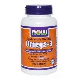 Now Foods Omega 3 1000 mg 100 kap.