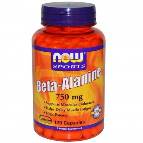 Now Foods Beta Alanine 750mg 120 kaps.