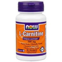 NOW FOODS CARNITINE 500mg - 30 kaps.