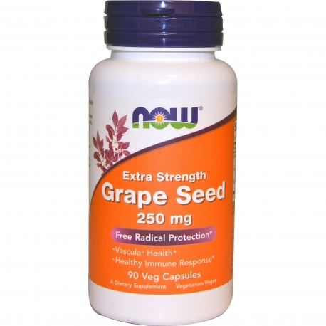 Now Foods Grape Seed Extract 250mg 90 kaps.