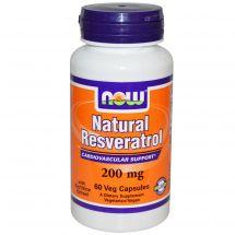Now Foods Natural Resveratrol 200mg 60 kaps.
