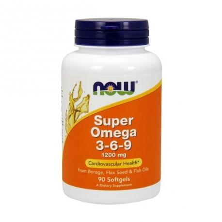 Now Foods Super Omega 3-6-9 1200mg 90 kaps.