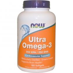 Now Foods Ultra Omega 3 Fish Oil 180 kaps.