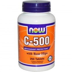 Now Foods Vitamin C-500 with Rose 250 tab.