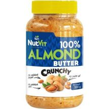 NutVit 100%Almond Butter 500g. Crunchy