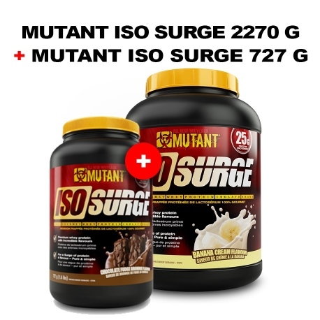 PVL Mutant Iso Surge 2250g +Iso Surge 727g GRATIS!